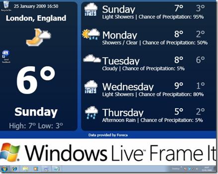 windows 7 desktop windows live frameit