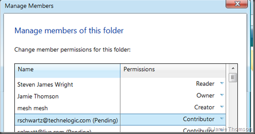 Windows Live Mesh Tech Preview permissions